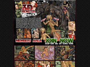 3D Monsters Hard Penetration