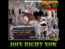 3D Evil Monsters Comics