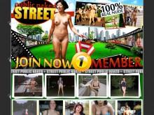 Public Naked Street